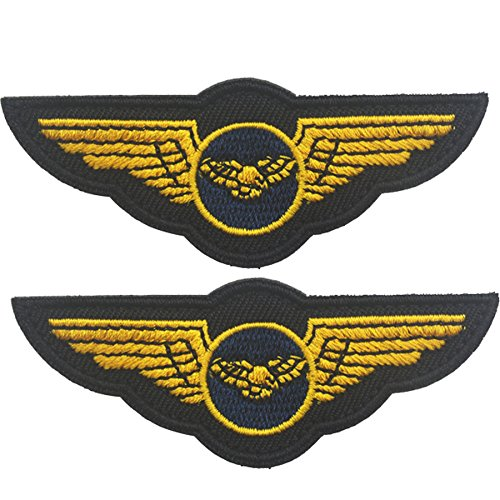 Angel Wings Embroidered Badge Fastener Hook & Loop Patch DIY Applique for Jacket T Shirt Decoration Symbol Badge Cloth Sign Costume -