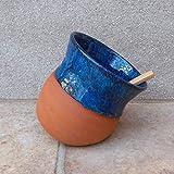 Salt pig or cellar hand thrown terracotta ceramic pottery handmade wheelthrown