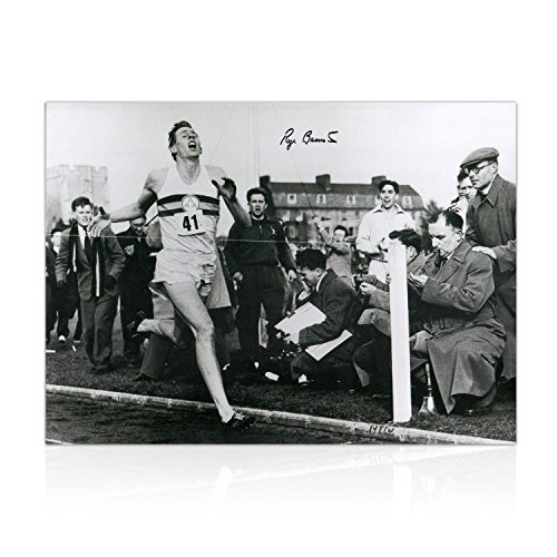 Roger Bannister Signed Photograph: First Under 4 Minute Mile