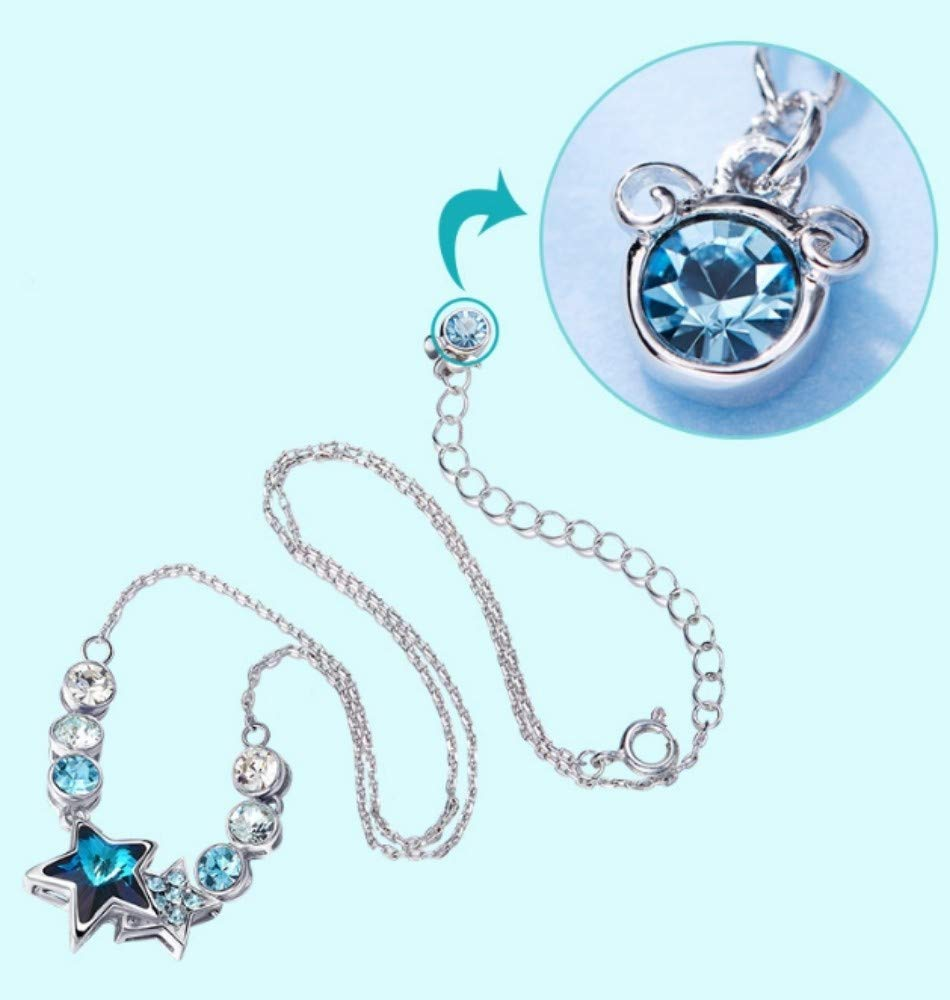 QWERST女性ネックレススターリングシルバー星座人格ペンダントファッションエレガントな絶妙なネックレス最高の贈り物   B07MJKL95K