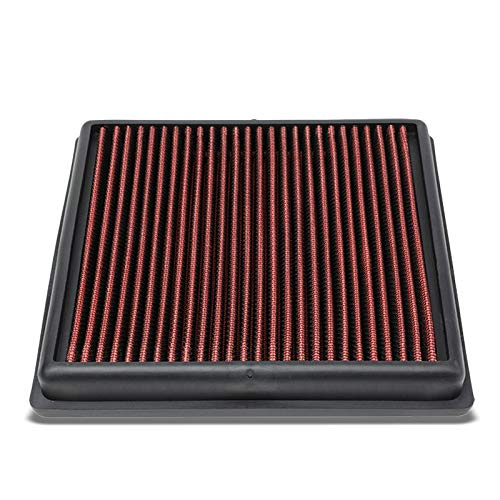 Red High Flow Performance Cotton Gauze Washable/Reusable OE Style Drop-In Panel Air Filter Replacement works with 14-17 Volkswagen Sportvan 1.6L L4 Fuel Injection (NOT FIT USDM MODELS)