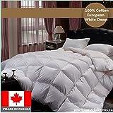 100% COTTON EUROPEAN WHITE DOWN DUVET COMFORTER FILLED IN CANADA