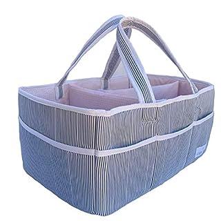 Baby Diaper Caddy Organizer - Nursery Storage Basket Bin Baby Item Blush, Large