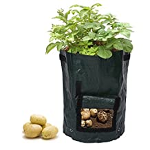Potato Grow Planter PE Planting Container Bag Outdoor Garden with Side Window and Handles (1)