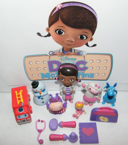 Disney Doc McStuffins Deluxe Mini Figure Set Toy Playset of 12 with Doc, Lambie, Stuffy, Chilly, Heart Diary, Medical Bag with Stethescope, Fire Truck, Doll and More!]()