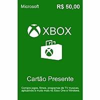 Cartão Xbox Live R 50 Reais Presente Gift Card
