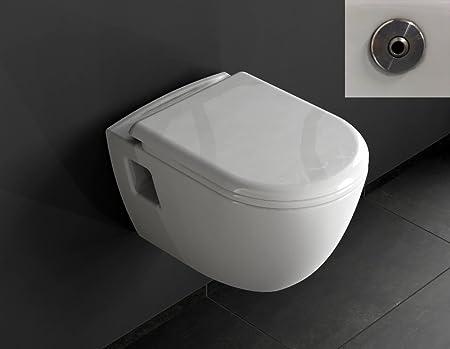 Aqua Bagno Leia Taharat Design Wall-Hung Toilet with Seat and Bidet ...