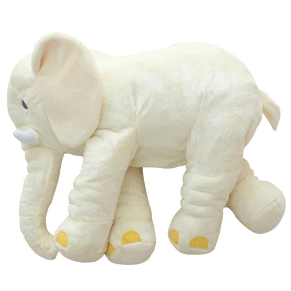 sdtdia Cuscino Peluche con Cuscini Elefante Cuscino per Animali di Peluche Grigio, Piccolo