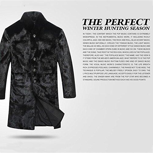 Ming Manteau à Fourrure Homme BlousonsVeste Long Classique Veste D'hiver pour Homme