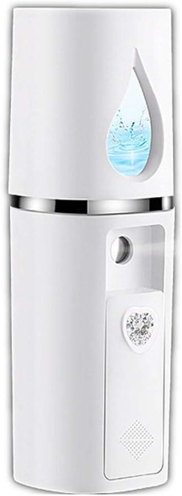 Blanco Blanco Medidor de Agua de Carga USB de Mano Nano Steamer Sprayer Humidificador Facial Spray fr/ío 20L Tanque de Agua Grande