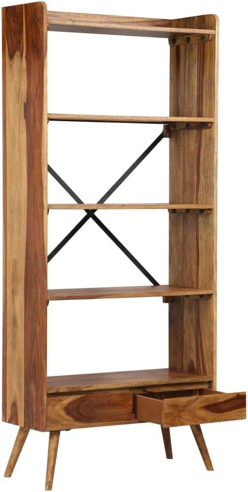 vidaXL Estantería Madera Sheesham 75x30x170 Estante Repisas Mueble Organizador: Amazon.es: Hogar
