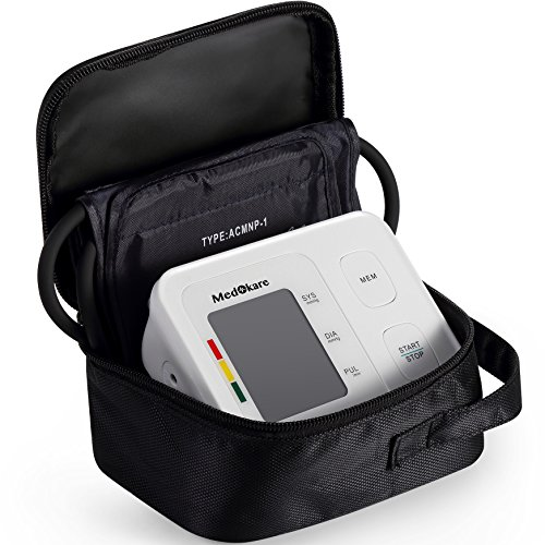 Medokare Home Blood Pressure Monitor – FDA Approved High Blood Pressure Machine Kit, Large Upper Arm Adjustable Cuff, Digital BP Monitor for Irregular Heartbeat Monitoring, Portable Case and Batteries