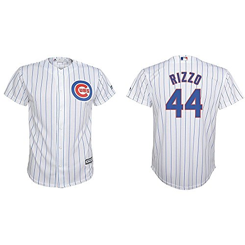 Replica Player Stitched Home Jersey - Majestic Anthony Rizzo Chicago Cubs MLB Youth White Home Cool Base Replica Jersey (Size Medium 10-12)