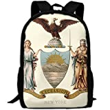 ZQBAAD New York State Coat Of Arms Luxury Print Men And Women's Travel Knapsack