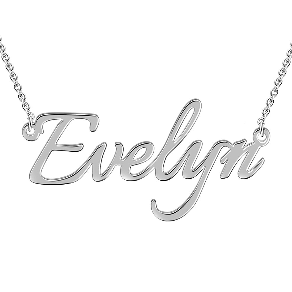 SOUFEEL Customized Necklace Evelyn Style Personalized Name Necklace 925 Sterling Silver Necklace