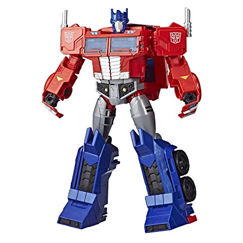 Transformers Toys Optimus Prime Cyberverse Ultimate Class Action Figure - Repeatable Matrix Mega Shot Action Attack Move - Toys for Kids 6 & Up, 11.5