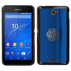 // PHONE CASE GIFT // Duro Estuche protector PC Cáscara Plástico Carcasa Funda Hard Protective Case for Sony Xperia E4 / Engineer Drawing Mysterious 3D /