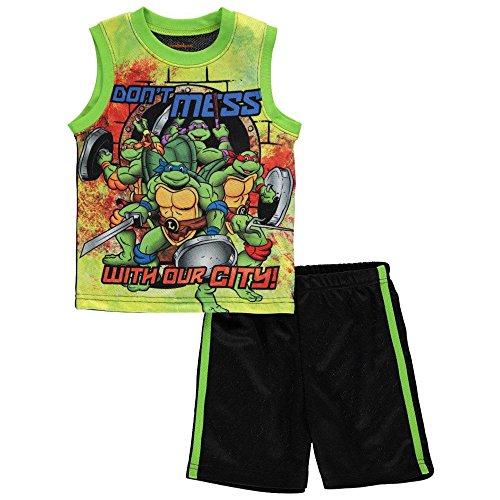 (Teenage Mutant Ninja Turtles Toddler Boys Tank Top & Short Set Size)