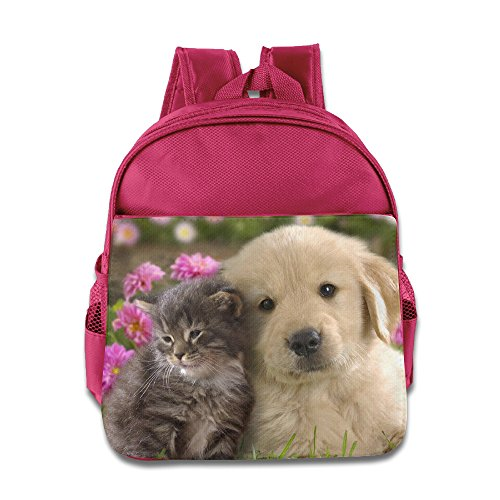 Custom Funny Cute-dog Boys And Girls Shoulders Bag For 1-6 Years Old Pink