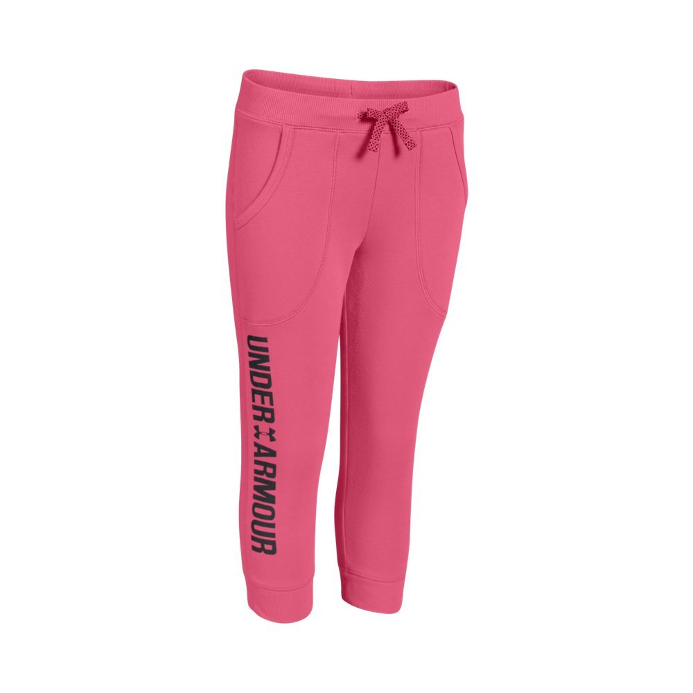 Kids Under Armour Girls Favorite Capri, Super Pink, LG (14-16 Big Kids) x One Size by Under Armour (Image #1)