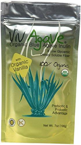 Viv Agave, Organic Blue  Agave Inulin Powder, Vanilla, 7-...