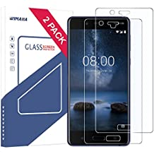 Nokia 8 Screen Protector, Wimaha 2 Pack Tempered Glass Screen Protector for Nokia 8 [Full Screen Coverage] [Scratch Resistant] [Bubble Free] [Lifetime Replacement Warranty] (Clear)