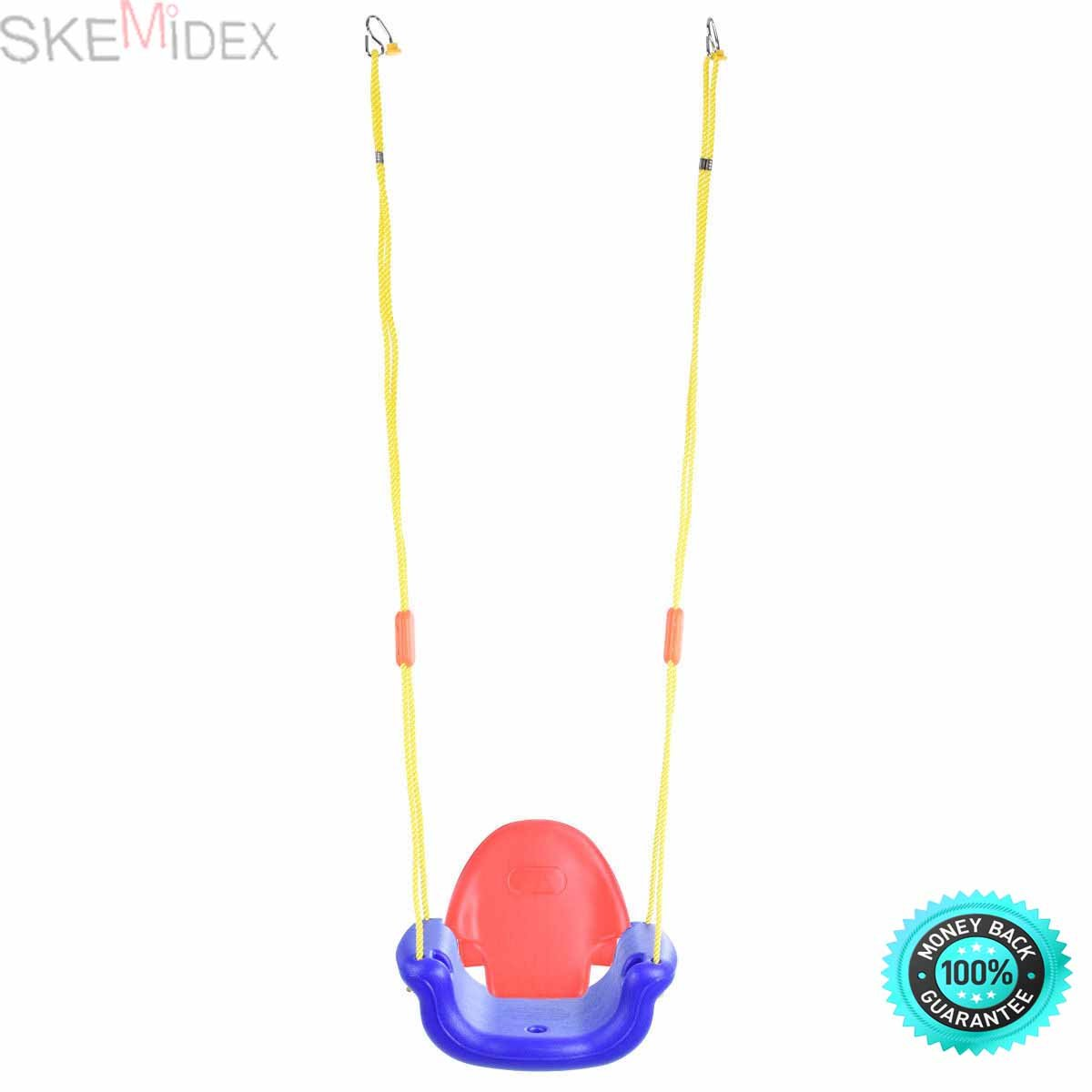 SKEMiDEX--- 3-in-1 Infant to Toddler Swing Set Secure Detachable Outdoor Play Patio Garden Brand news and Constructed of plastic, resistant Water and mold Easy to assemble, converted