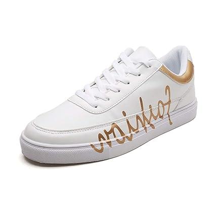 fe403cf756f46 Amazon.com: Hilotu Athletic Shoes for Men Microfiber Leather Casual ...