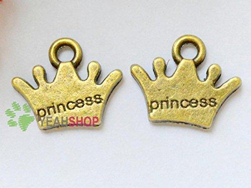 Antique Brass Pendants - Princess - 10mmx12mm - 150 PCS (JP110)