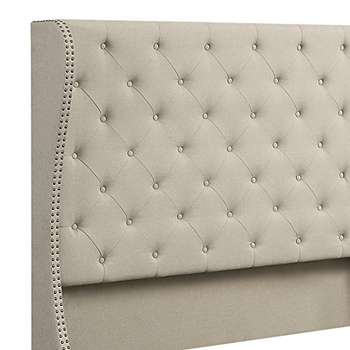 home, kitchen, furniture, bedroom furniture, beds, frames, bases,  beds 10 image Rosevera Olympia Upholstered Bed with Nailhead Wingback in USA