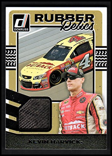 (2017 Donruss Rubber Relics #30 Kevin Harvick race used tire swatch - NM-MT )