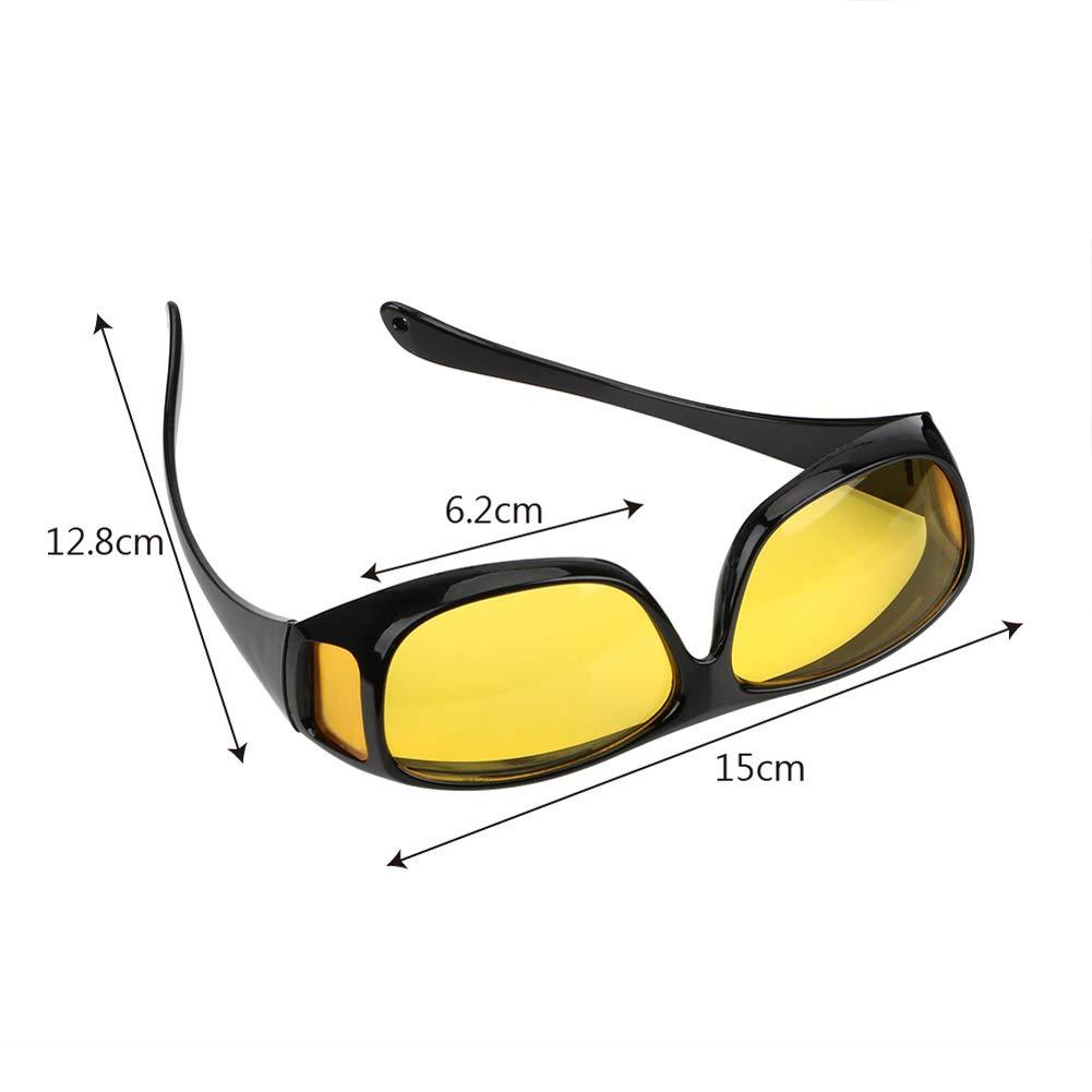 9a1a4761591 Amazon.com  2019 Polar-Tech Night Vision HD Driving Glasses (Black)   Clothing