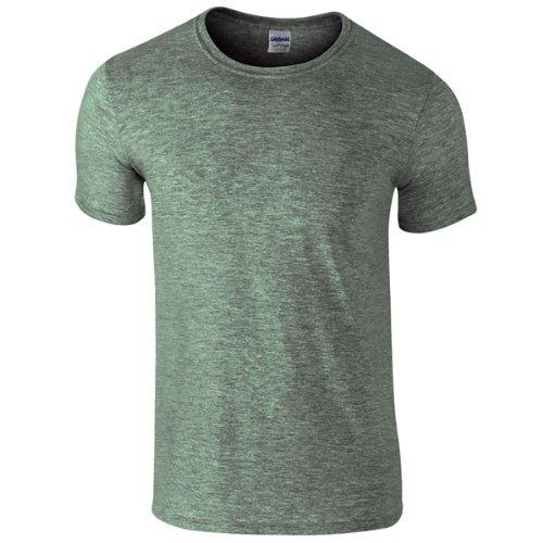 Gildan SoftstyleTM Adult Ringspun T-Shirt Heather Military Green XL ()
