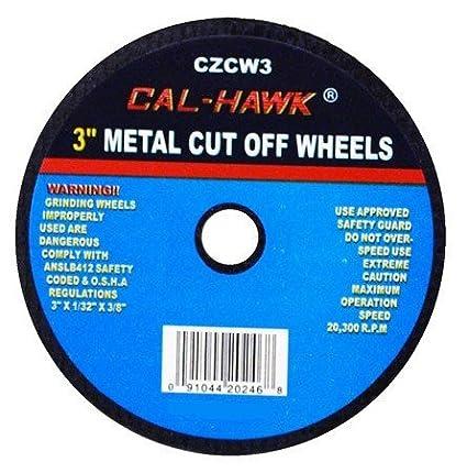 50 Pack 3' Cut Off Wheels Cal Hawk