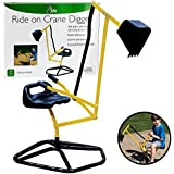 Ride On Crane Digger- Mechanical Digging Metal Outdoor Toy- Swing and Grab Function, Rotates 360°
