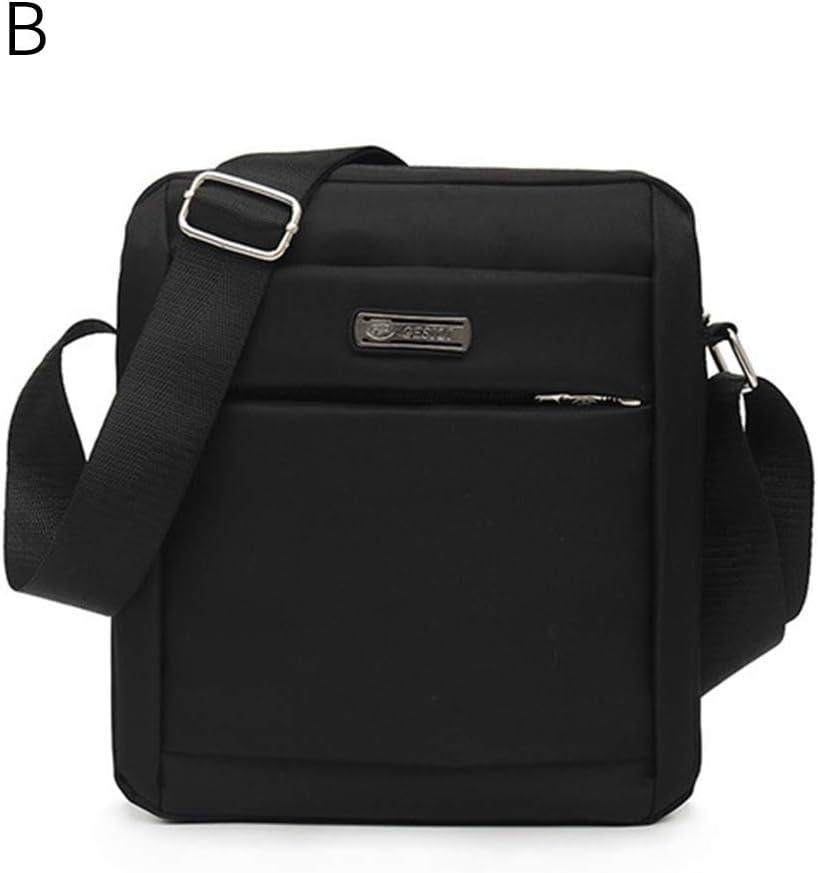 Jiyaru Mens Multifunctional Crossbody Shoulder Bag Lightweight Holder Zippered Wallet Business Office Black B