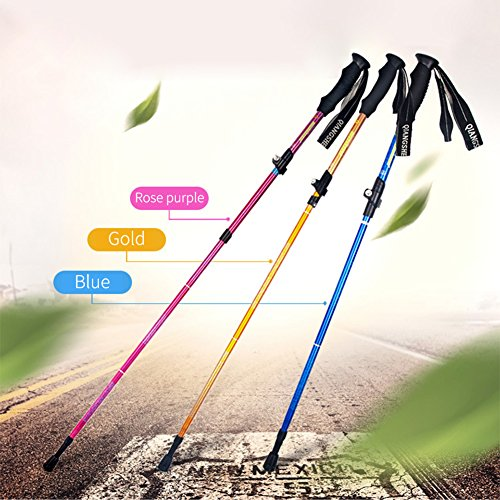 "ClothingLoves 53"" 2pack Carbon Fiber Trekking Poles , Adjustable Durable Aluminum Hiking Sticks for Outdoor Walking Trekking Climbing"