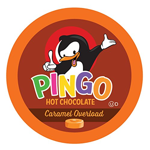 Pingo Single-Cup Hot Cocoa for Keurig K-Cup Brewers, Caramel Overload, 40 Count