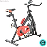 SKEMiDEX---Fitness Indoor Cycling Bike Exercise Bicycle Cardio Equipment Workout 33lbs. Easy to operate and convenient to use, you can use it in office, home or other indoor places SKEMIDEX