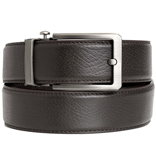 Ratchet Click Belt Custom Fit with Automatic Sliding Buckle in a Gift Box–Comfort Full Grain Genuine Leather Dress Belt