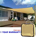 Cheap Quictent 20 x 16 ft Rectangle Sun Sail Shade Canopy Top Outdoor Cover Patio Garden w/Free Carry Bag- Sand