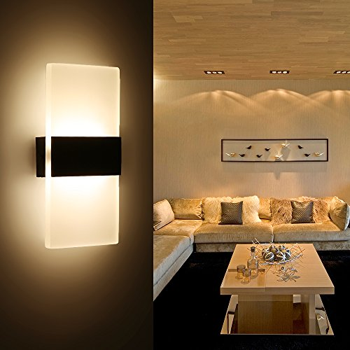 Wonderful Splink LED Wandleuchte Modern Flurlampe Acryl Aluminum Wandlampe Für Innen  Schlafzimmer, Wohnzimmer, Treppenhaus(3W, Warmweiß): Amazon.de: Beleuchtung