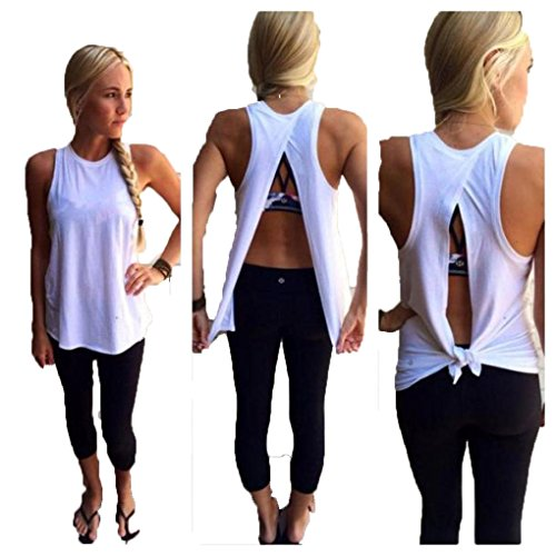 Malloom Sexy Women's Backless Vest Top Sleeveless Blouse Loose Tank T Shirt Clubwear