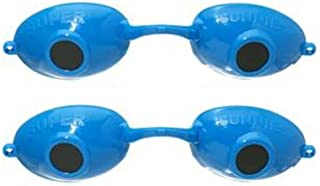 product image for 2 pack Super Sunnies UV Eye Protection Tanning Goggles Eyeshields (Neon Blue)