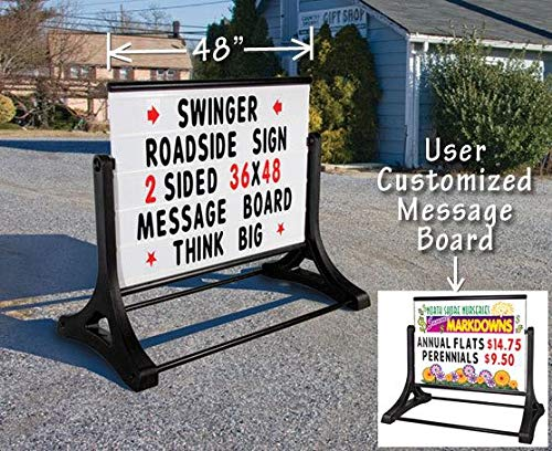 36''x48'' Swinger Roadside Message Board Sign by Signs Direct