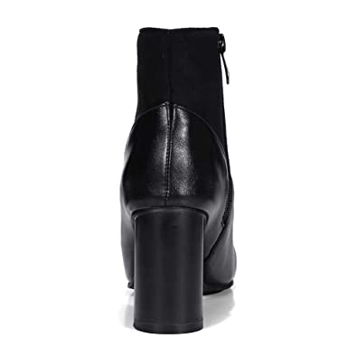 KingRover Womens Fashion Concise British Style Pointed Toe Comfort Square Heel Knee high Boots