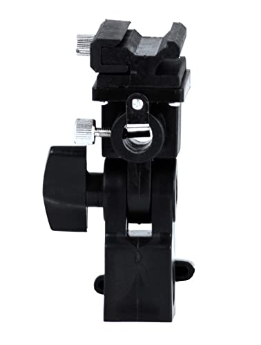 Phot-R Type B Professional Universal Light Stand Swivel Hot Shoe Flash Holder Mount with Umbrella Holder for Canon and Nikon