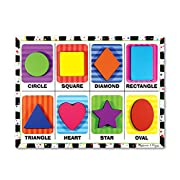 Melissa & Doug Shapes Wooden Chunky Puzzle (8 pcs)