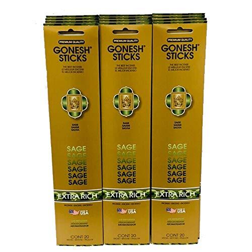注目の Gonesh Gonesh/パック Incense B01BUI2T7M Sticks Extra Richコレクション:セージ12パック( 20 Sticks/パック B01BUI2T7M, シルエット:7253724c --- pizzaovens4u.com