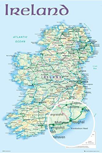 Close Up Póster Mapa de Irlanda (61cm x 91,5cm): Amazon.es: Hogar